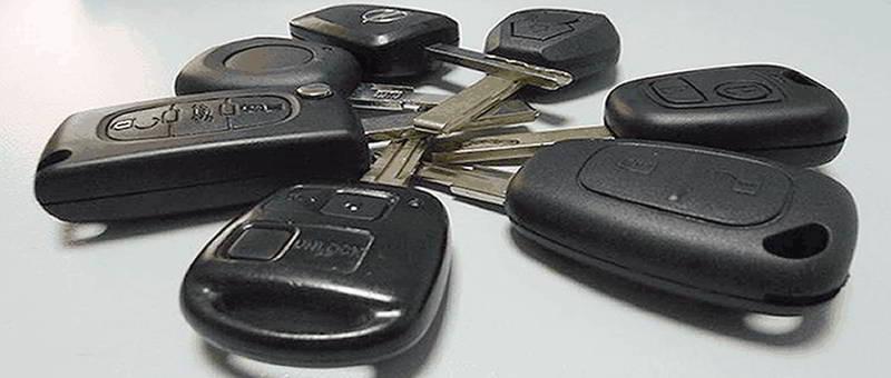 Llaves de coche con mando